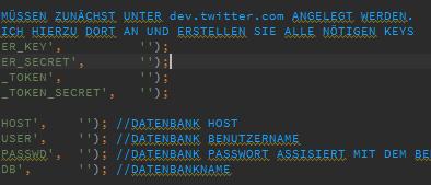 Twitter Bot - Konfiguration